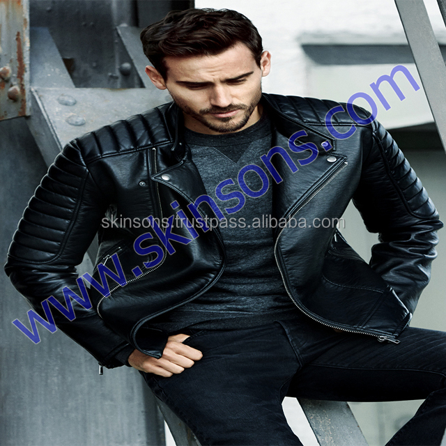 Leather Products New Fashion Design Biker Jacket Mens Leather