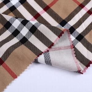 52% viscose 48% rayon plain print custom checked plaid fabric for dress