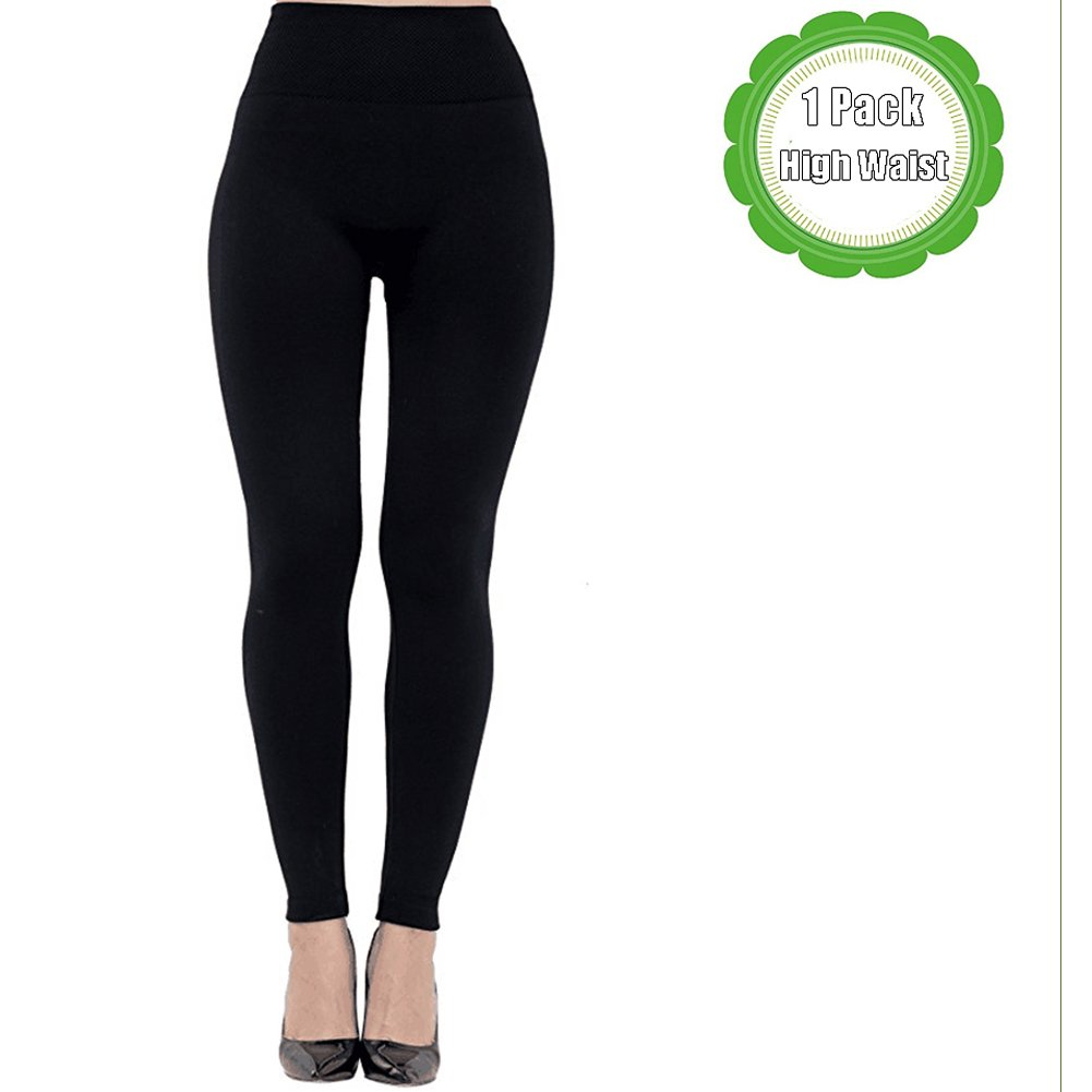 14fd5dc4849d1e Get Quotations · Women Winter High Waist Fleece Lined Leggings Ladies  Seamless Ankle