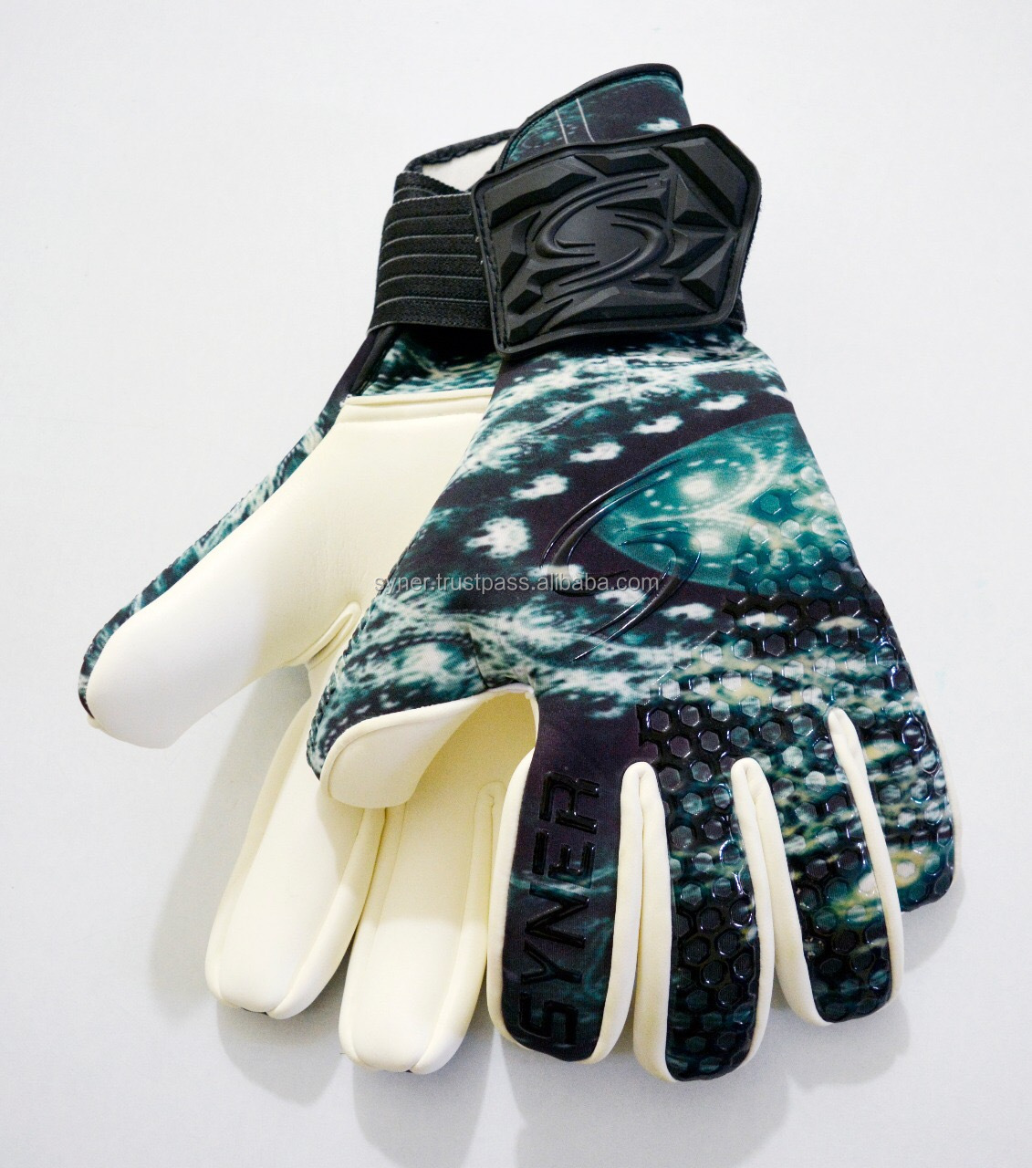 Mẫu miễn phí tùy chỉnh riêng của bạn chuyên nghiệp 4 mét đức latex bóng đá thủ môn bóng đá thủ môn găng tay nhân tạo/tự nhiên turf