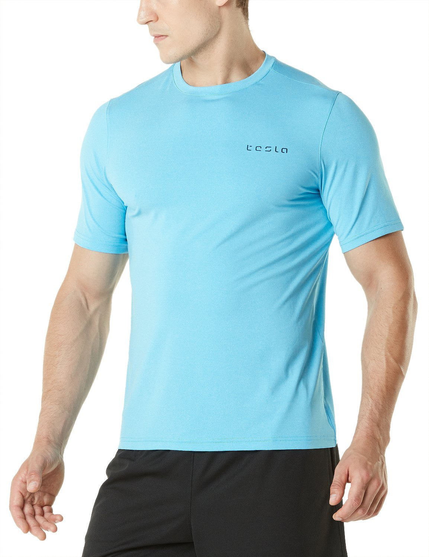 Tesla Men's HyperDri Short Sleeve T-Shirt Athletic Cool Running Top MTS03 / MTS04 / MTS05