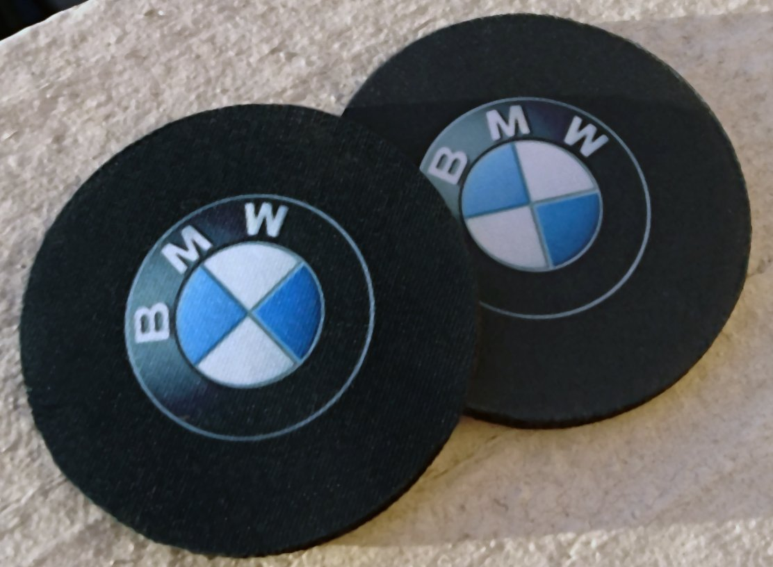 Buy Pair Of Bmw Car Coasters Highly Absorbent For Any Bmw Cup