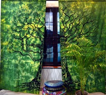 Tree Of Life Door Window Curtains Drape Panel Hippie Valances Throw Tapestries Creative Home Decor curtain