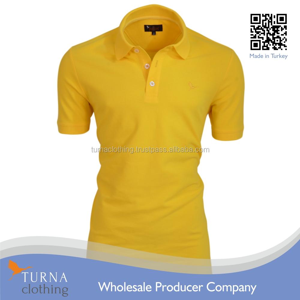Mens Fashion Custom Polo Shirt Embroidery Yellow Buy Custom