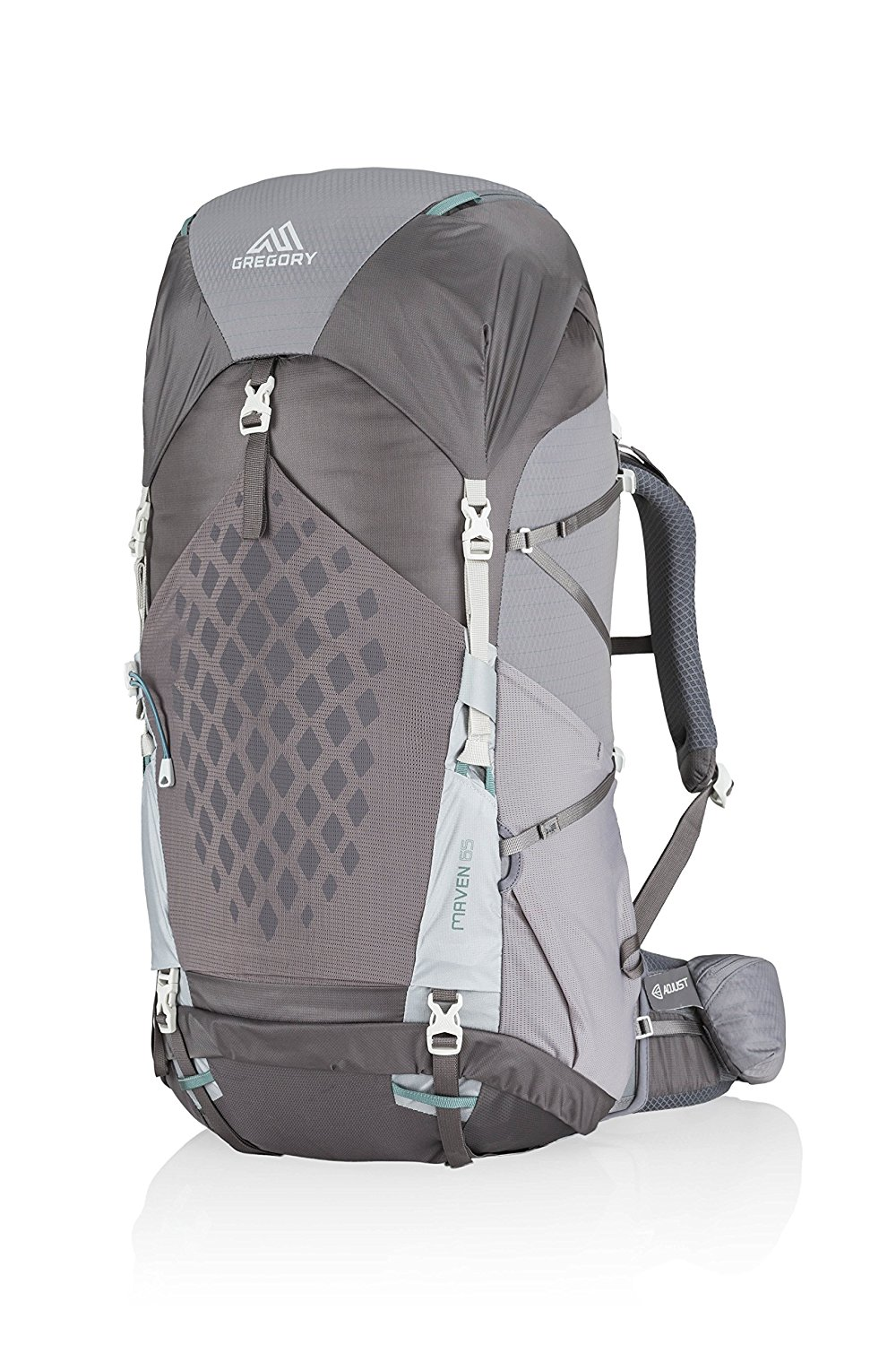 Gregory Mountain Products Maven 65 Liter Women's Lightweight Multi Day Backpack | Raincover Included, Hydration Sleeve and Day Pack Included, Lightweight Construction | Lightweight Comfort on the Trail