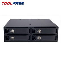 TOOLFREE 15mm sas drive recinto 2,5 pulgadas 4 Bay SAS 12G SATA 6G Mobile Rack/SSD HDD caso Caddy