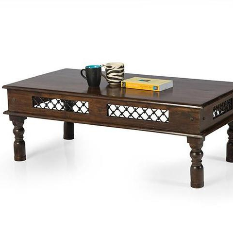 Solid Wood Antique Design Jali Coffee Table Buy Solid Wood Slab