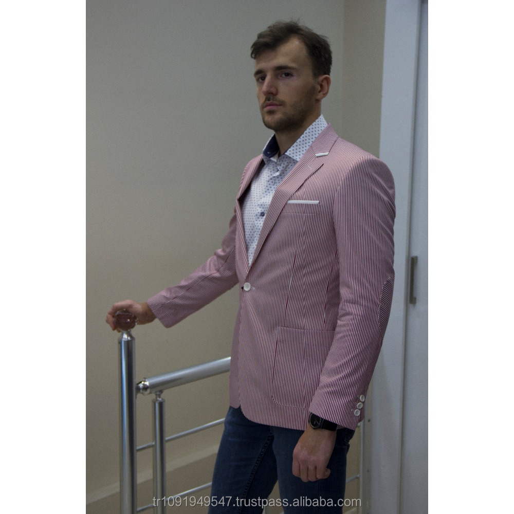Tienda online varios estilos colección de descuento Hombre Casual de moda de los hombres chaqueta Blazer rosa y ...