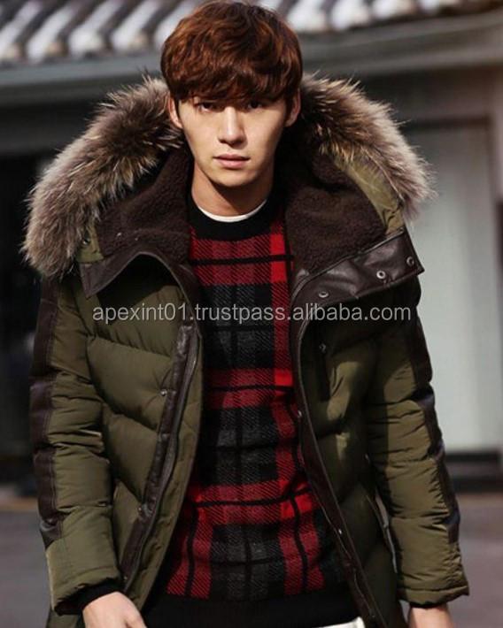 0281ca67d Parkas Goose Winter Jacket Men Fashion Thickening Fur Hooded Army Green  Custom Puffer Down Jacket - Buy Goose Down Jacket With Fur,Western Down ...