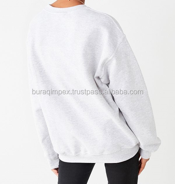 Long sleeves top quality fashionable ladies black color crop top sweatshirts