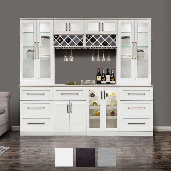 Living Room Furniture Glass Door Modern Wooden Home Wine Cabinet Bar