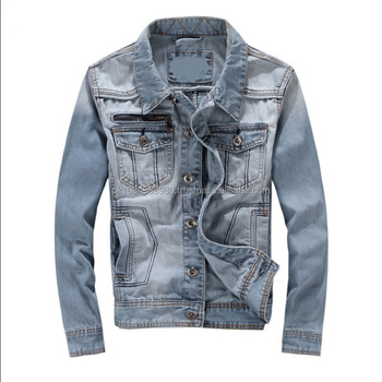 European Style Vintage Couples Jeans jacket Slim Fit Short Acid Wash Denim  Light Blue Black Jean bba66879e