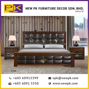 Best Quality Npk 2192 Clic Bedroom Furniture Antique Set With Pu Leather In Brown