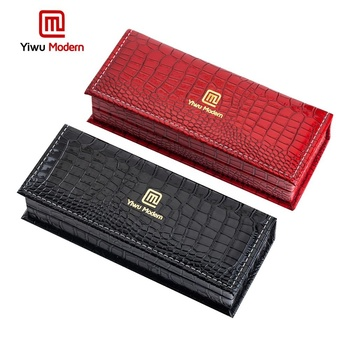 Luxury Imitated Crocodile Skin Engraved Pen Gift Box Display Case for Single Individual Ballpoint / Ball Pen / Fountain Pen