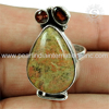 Handmade craft multi stone silver ring 925 sterling silver jewelry suppliers jaipur silver ring