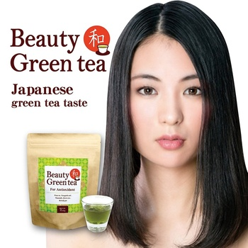 Health and beauty products for women green tea herbal slimming detox soft drink made in japan oem possible private label