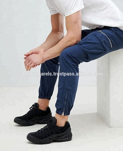 Wholesale Custom Plain Men Joggers Striped Sweat Track Pants/High Class Men Retro Joggers In Navy