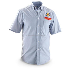Uniforms men's light blue work shirt