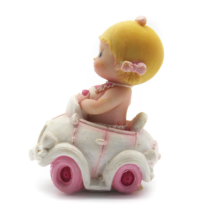Custom cute baby angel in car statue for home decor