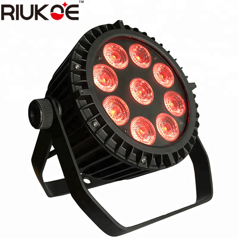 Guangzhou professional lighting RGBWAUV led par 9x12w ip65 led par light