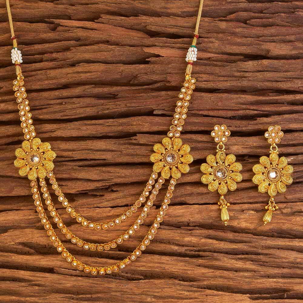 Side Pendant Set With Gold Plated Jewelry In Wholesale 17550 Lct