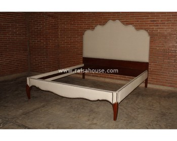French Furniture Indonesia - Elena Bed King Mahogany Furniture