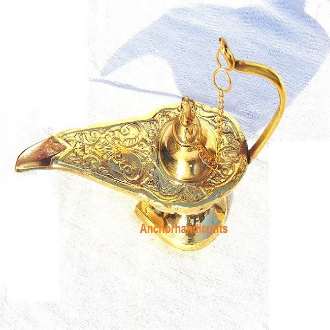 Brass Aladdin Genie Lamp Buy Vintage Brass Lamps Magic Genie Lamp Brass Oil Lamp Product On Alibaba Com
