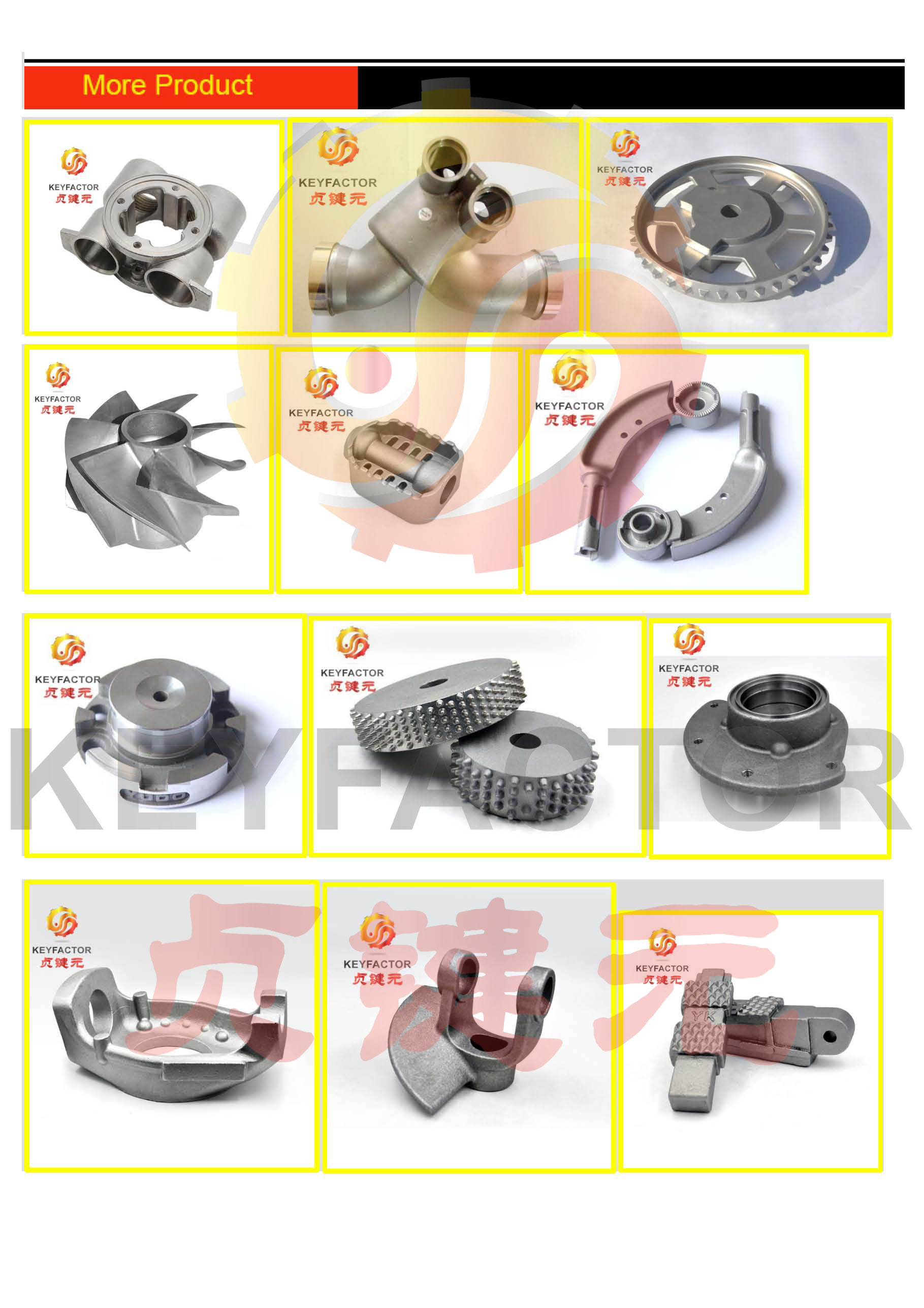 carbon steel Manufacturer Custom Lost Wax Precision Investment Casting