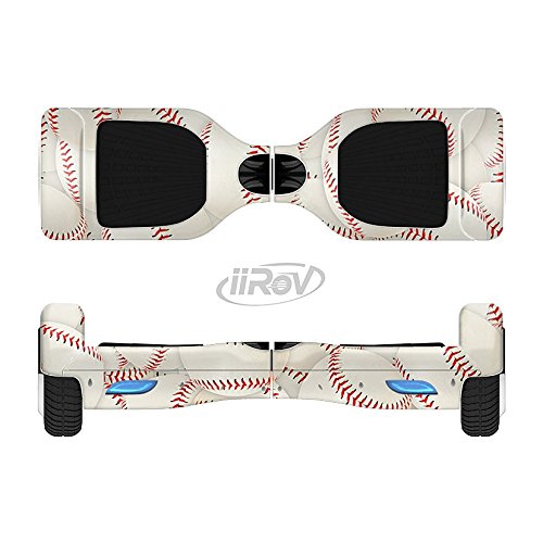 The Baseball Overlay Full-Body Wrap Skin Kit for the iiRov HoverBoards and other Scooter (HOVERBOARD NOT INCLUDED)