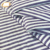 Shiny nylon lurex spandex custom silver stripe underwear fabric