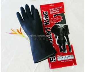 Black Industrial Rubber Glove (EK 101)