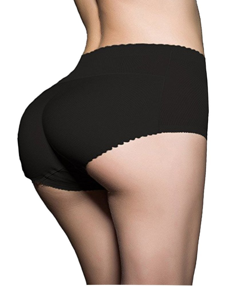 1758f63bd22 Get Quotations · DODOING Women Abundant Buttocks Pants Lady Push Up Middle  Waist Butt Hip up Padded Panties Butt