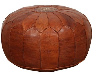 sneakers for cheap d6c83 8c53e Gorgeous Chocolate Moroccan Handmade Leather Floor Pouf