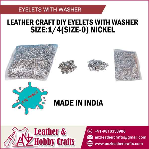 1/4 Size Leather Craft Eyelet with Washer for Bulk Export