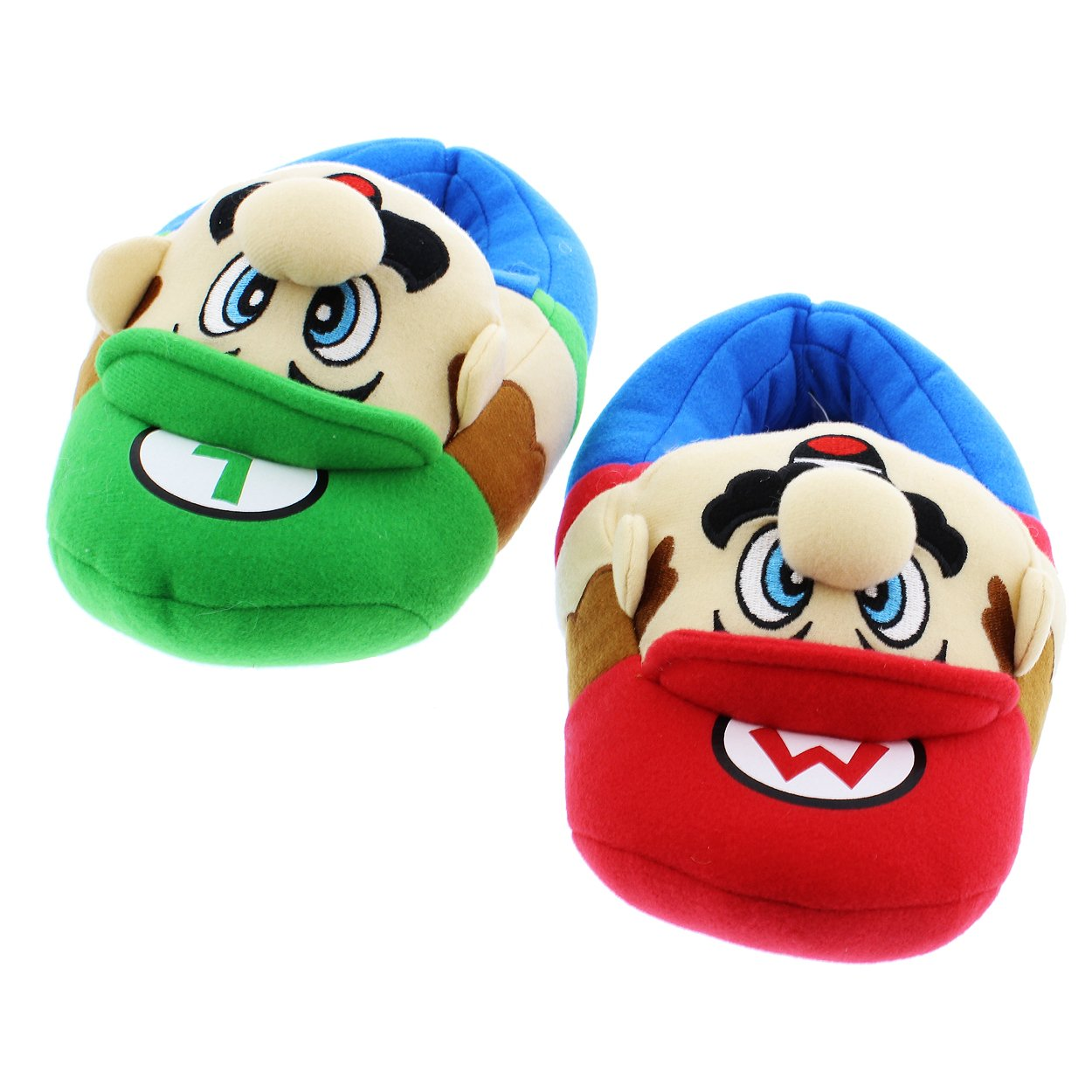 152b931ee19 Get Quotations · Super Mario Brothers Boys Plush Slippers (Little Kid Big  Kid)