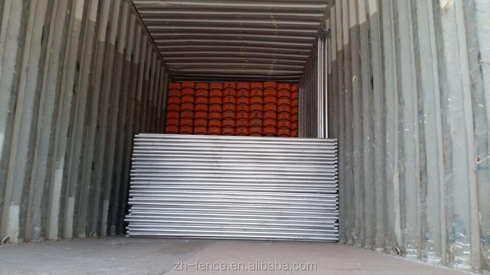 2.1*2.4 m australië Gebruikt Metalen Tijdelijke Hek Panelen Hot Koop