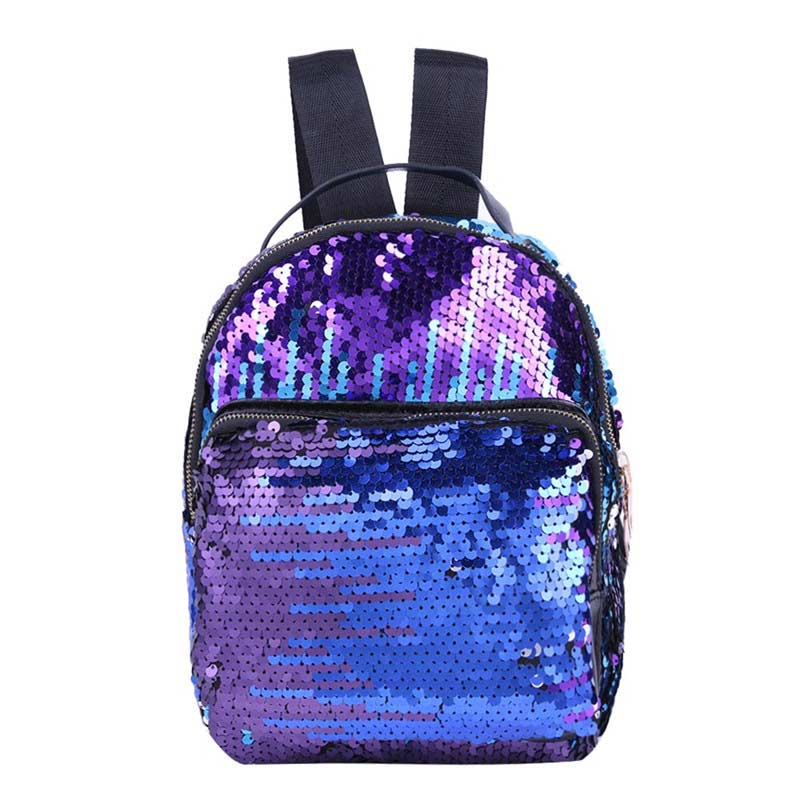 Custom Fashion blue sequuin bags personalized backpack