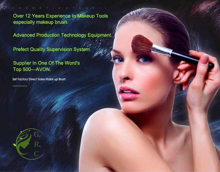 حار المبيعات Pinceles دي Maquillaje Mayorista Fabricantes دي الصين فرش ماكياج التجميل الاصطناعية الشعر بزاوية الحاجب فرشاة