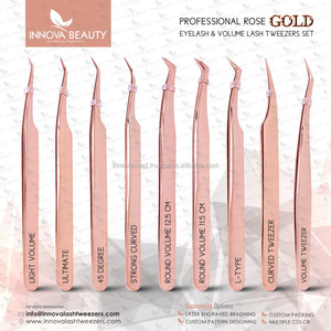 NEW Plasma Rose Gold Volume Lash Tweezers/ Titanium Rose Gold Volume Tweezers NEW Series