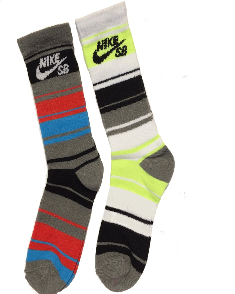 Nike SB 2 Pairs/Pack Boy's Crew Socks, Youth, 3Y-5Y