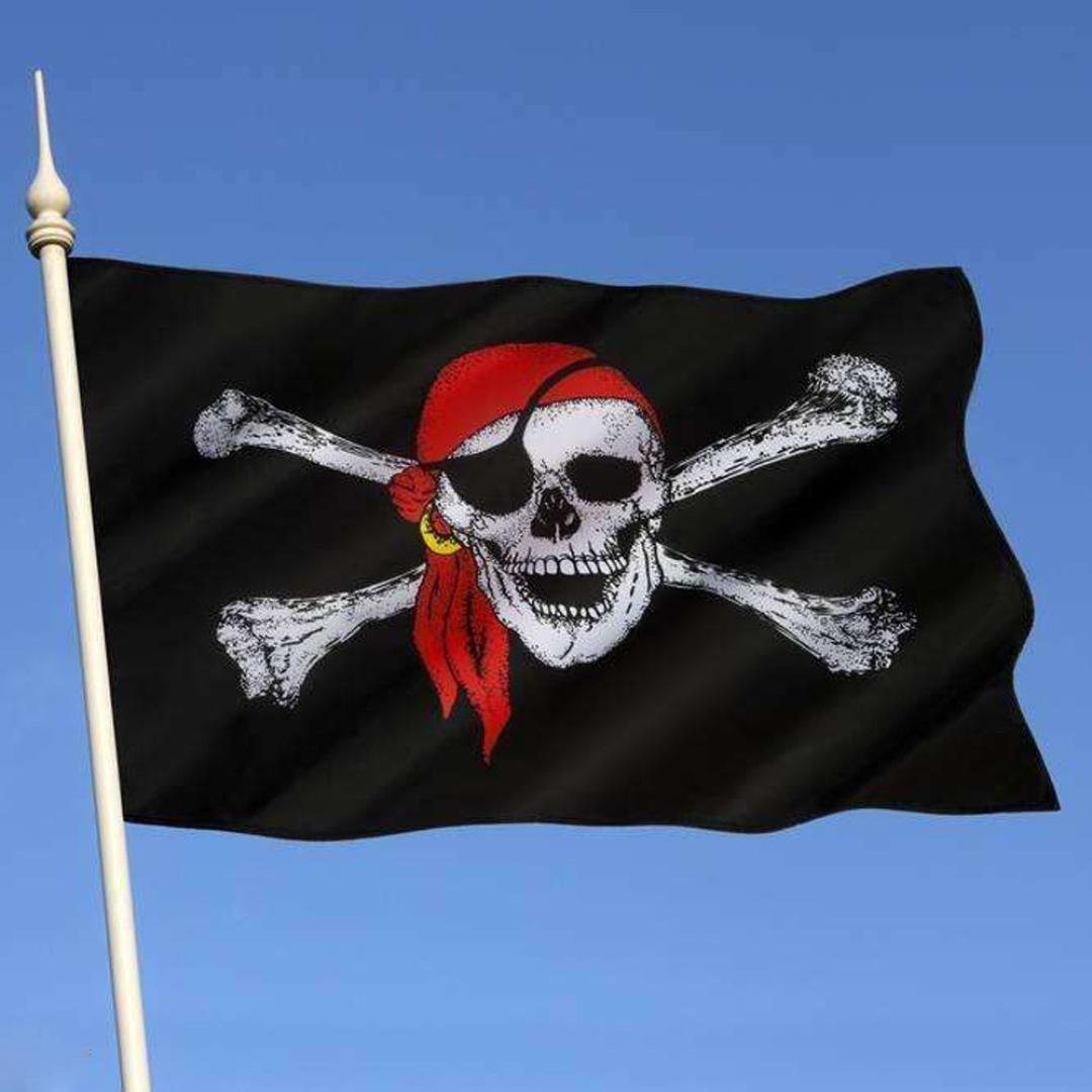 Creazy Pirate Flag 3x5 ft Calico Flag Balloween Jolly Roger Skull Flag Polyester Banne
