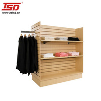 Custom 4 sided clothing display rack slatwall gondola