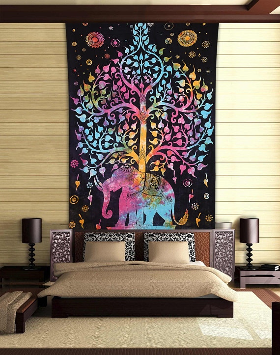 Twin Indian Tie /& Dye Tree Of Life Wall Hanging Bedspread Hippie Tapestry Throw