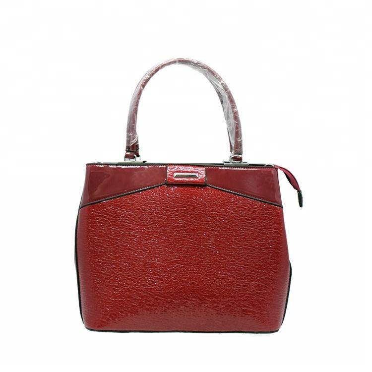 fe8fc0332ffb2 El yapımı Yeni Model Patent Pu Deri Çanta Kadın toptan çanta fermuarlı  çantalar Ünlü Marka Bayanlar