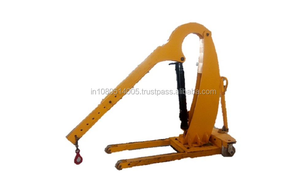Hydraulic floor crane for chemical industry