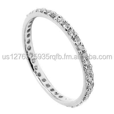 IMMACULATE ! 1/4 CARAT (38 PCS) DIAMOND 10KT SOLID GOLD ETERNITY RING