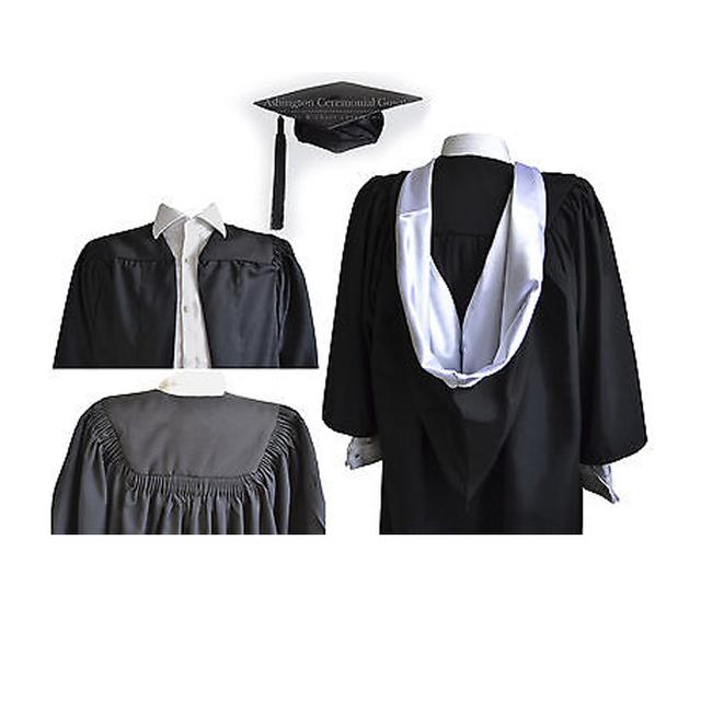 48ac16957d4 Luxury Graduation Gown And Burgon Hood Cap Set University Bachelor Academic  Robe Royal Purple