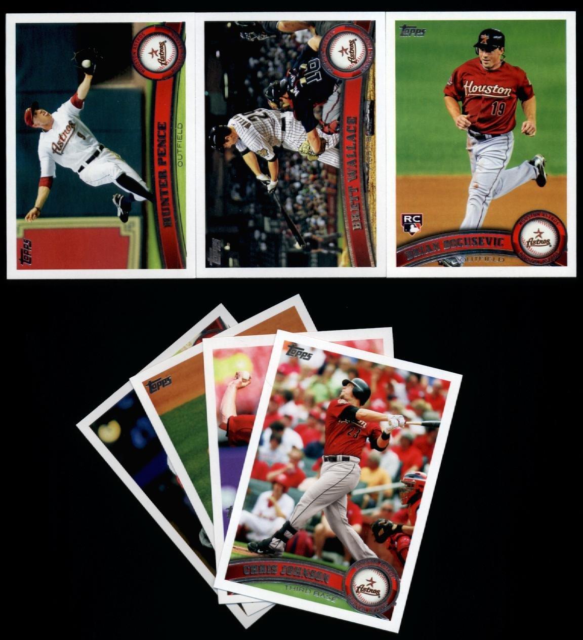 2011 Topps Houston Astros Baseball Cards Team Set 17 Cards