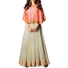 Stijlvolle Anarkali suits/Vrolijke Off White Cap anarkali suits dess/groothandel anarkali suits