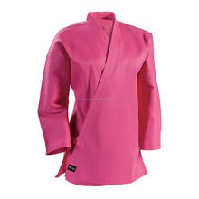 Pink Color New Female Kids, Youth Or Adult Students Uniform Shirt or Tops For Karate Judo Kendo Taekwondo MMA Krav Maga Training